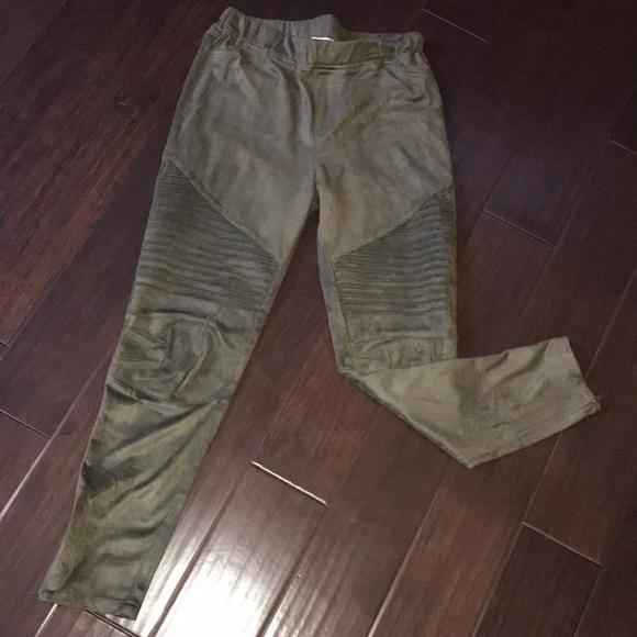 b07d406c7ca Umgee Pants - Umgee motto suede pants size L. Olive